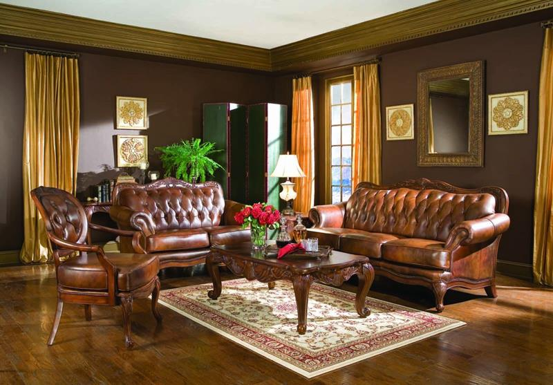 22 Living Rooms With Leather Furniture-1