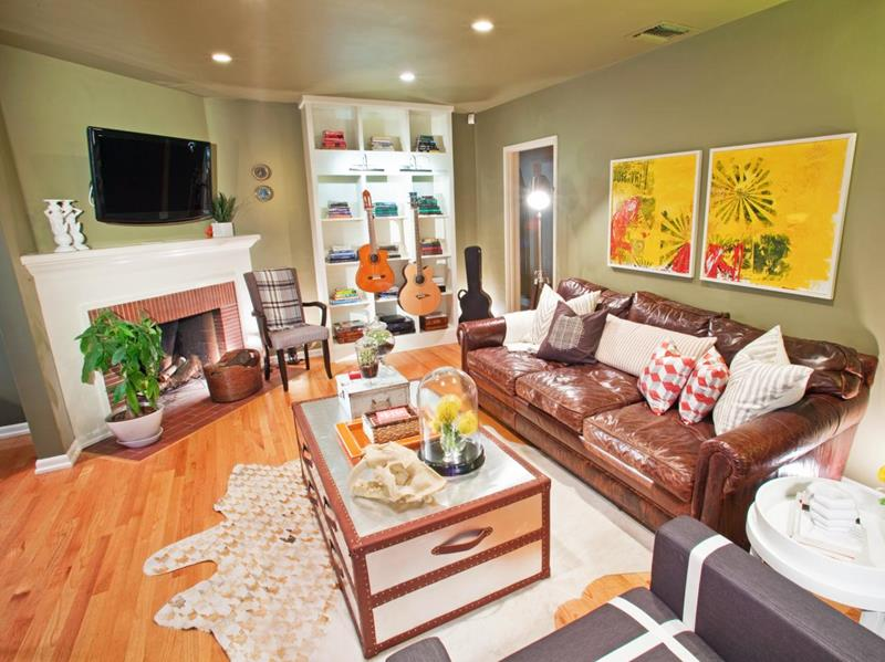 22 Living Rooms With Leather Furniture-10