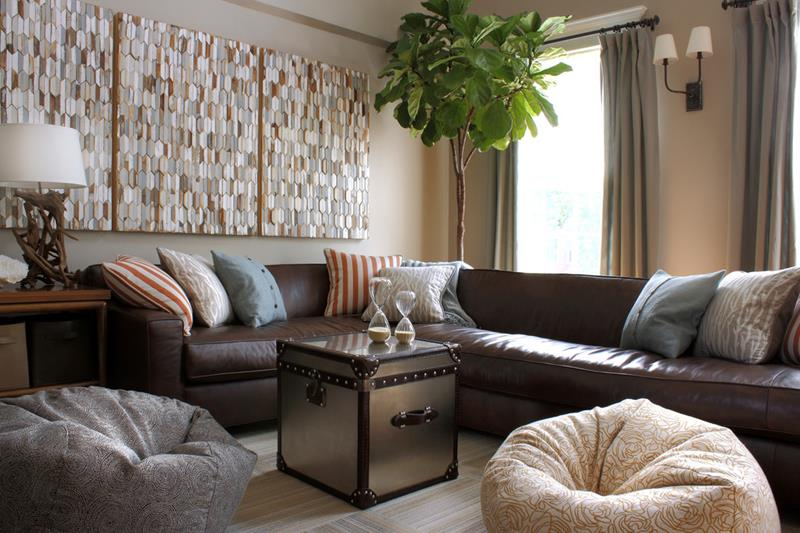 22 Living Rooms With Leather Furniture-22