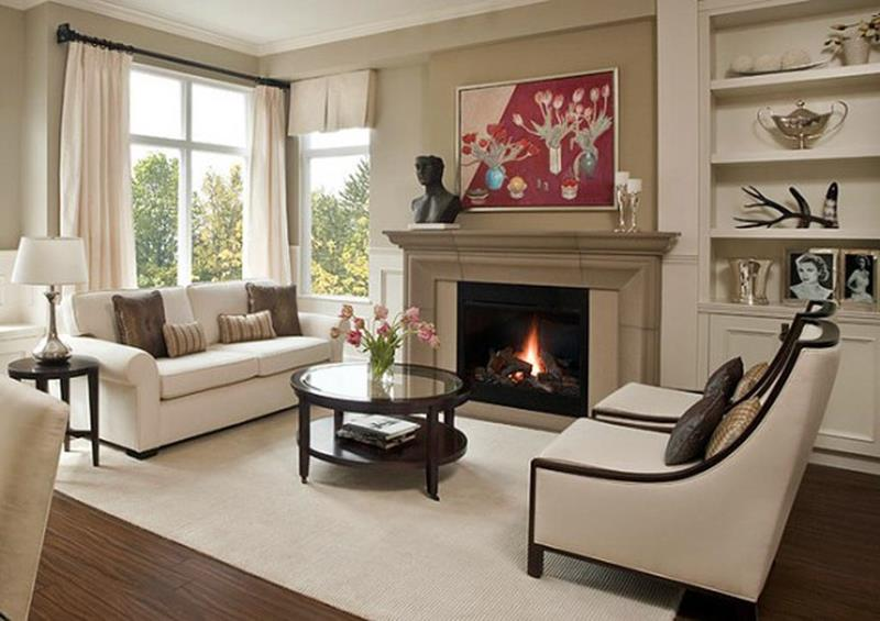 image named 23 Living Room Designs With Fireplaces title