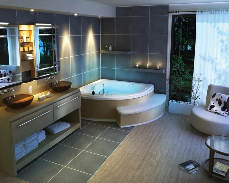 24 Beautiful Master Bathrooms-22