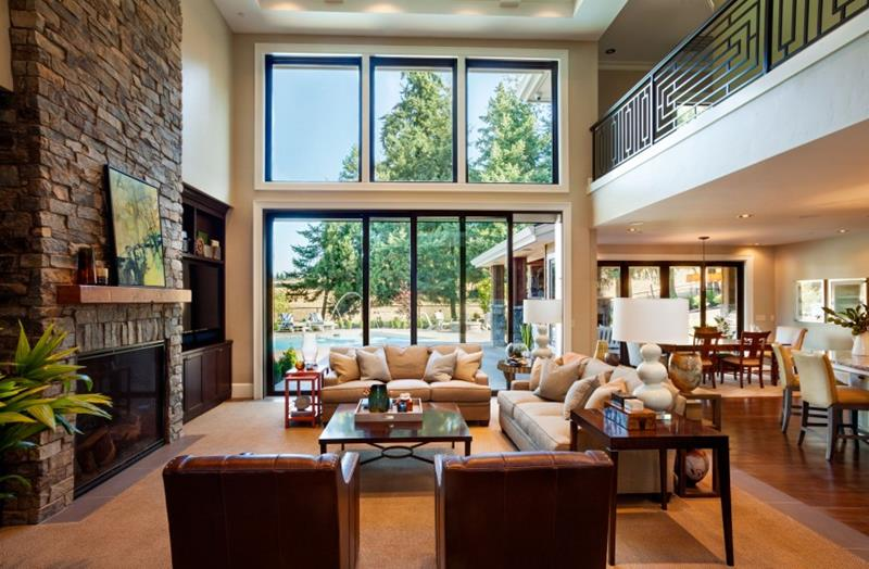 24 Large Open Concept Living Room Designs-12