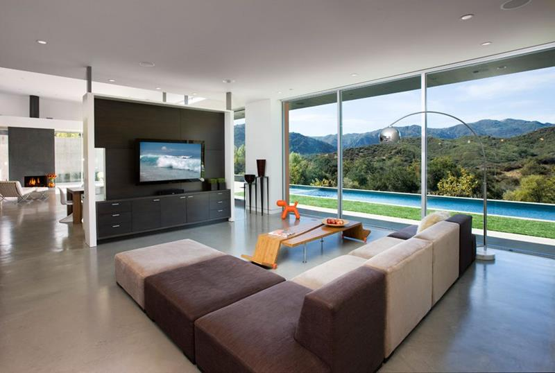 24 Large Open Concept Living Room Designs-5