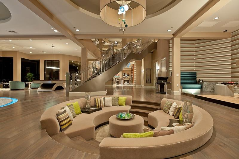 24 Large Open Concept Living Room Designs-7