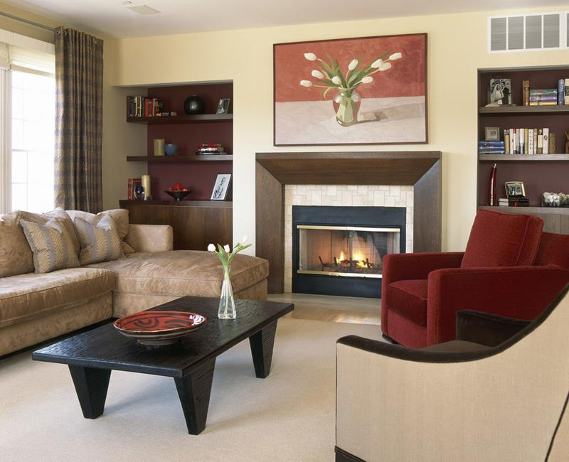 24 Living Room Designs With Accent Walls-2