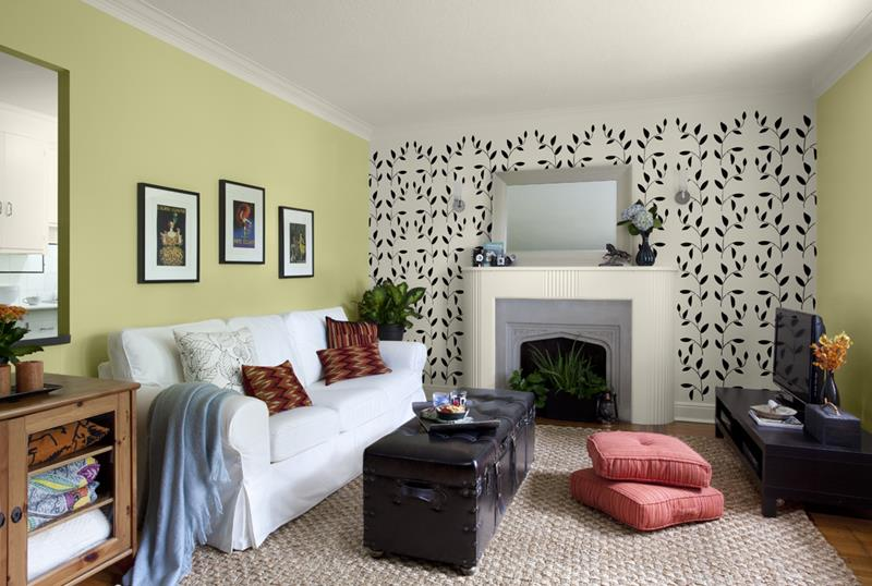 24 Living Room Designs With Accent Walls-7