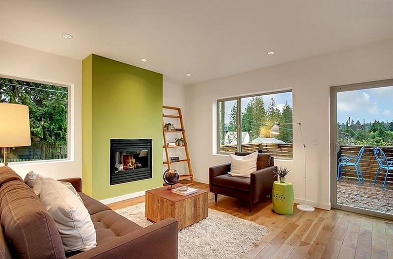 24 Living Room Designs With Accent Walls-8