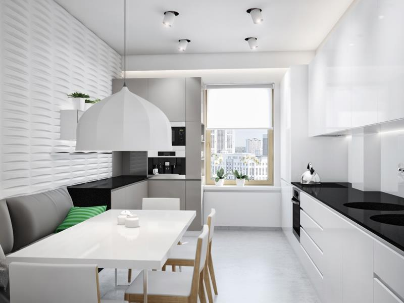 25 Beautiful Kitchens with Dining Tables-25