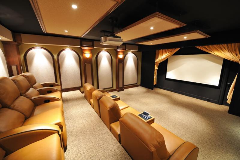 elite home theatre rooms design ideas