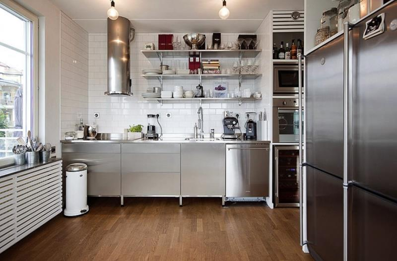 25 Kitchens With Stainless Steel Appliances-4