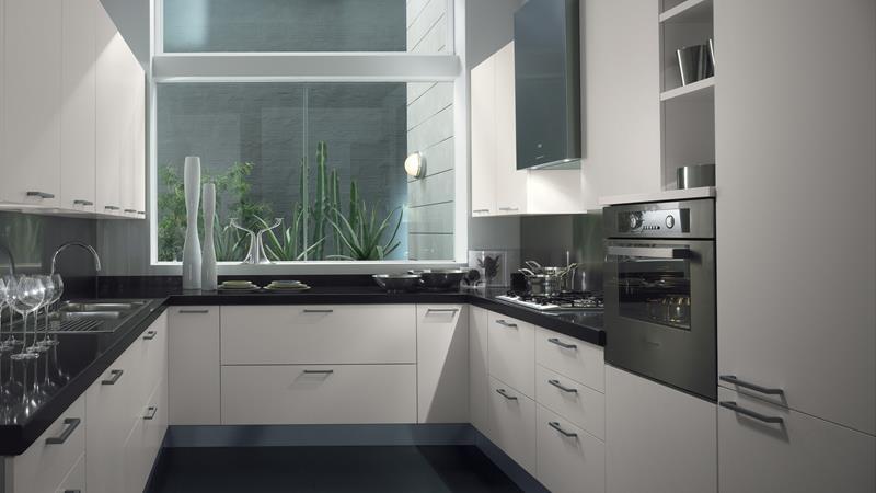 25 Stunning Kitchens with Big Windows-14