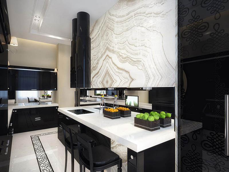 25 of the Hottest Kitchen Noir Designs-22