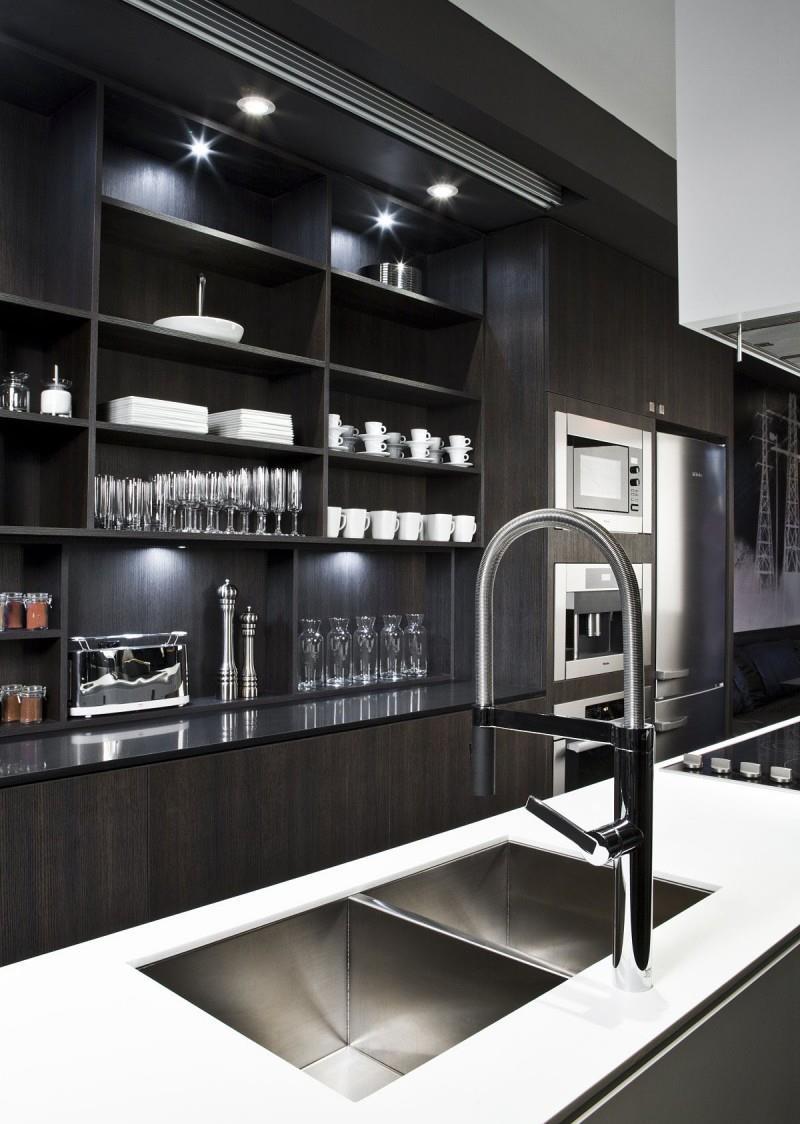 25 of the Hottest Kitchen Noir Designs-25