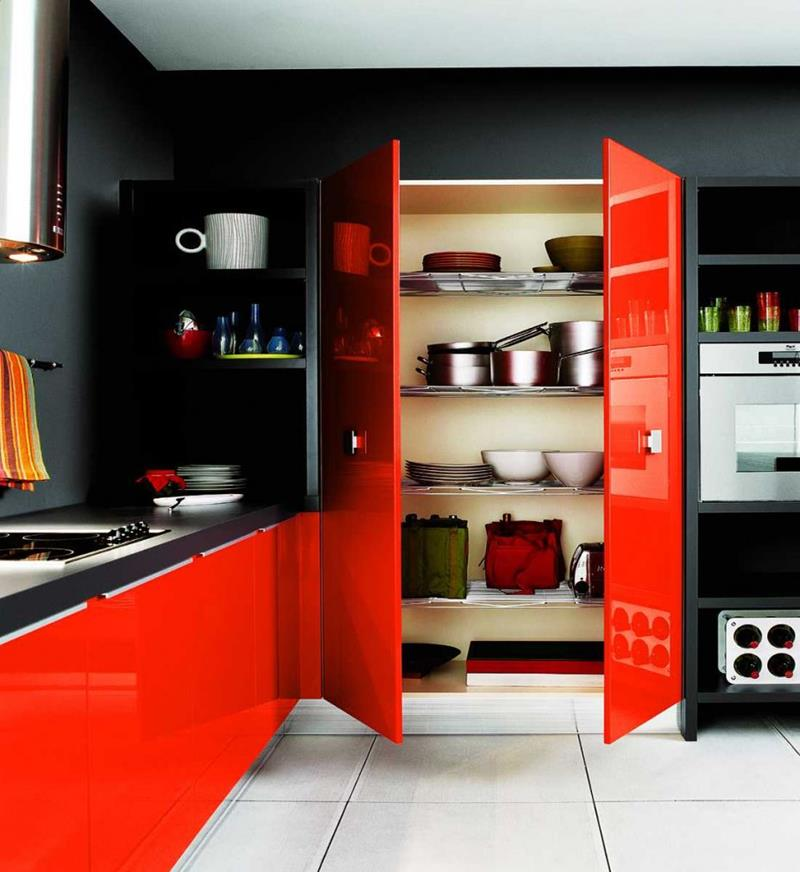 25 of the Hottest Kitchen Noir Designs-3