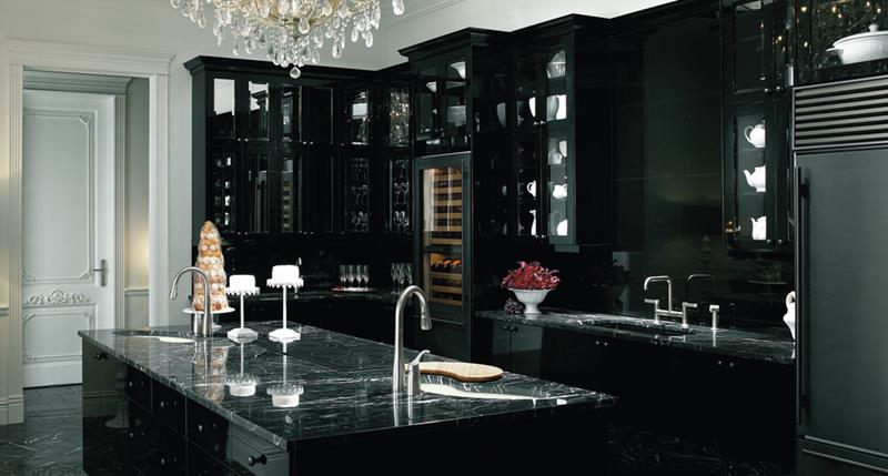 25 of the Hottest Kitchen Noir Designs-4