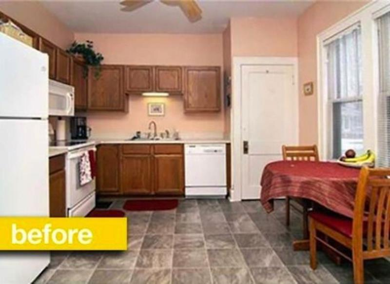 20 Pictures of Before and After Kitchen Makeovers With Cost-3