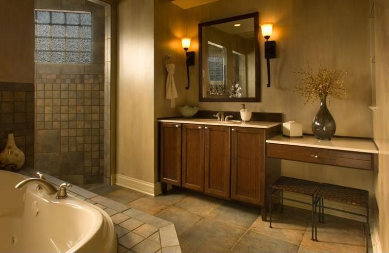 24 Brown Master Bathroom Designs-22