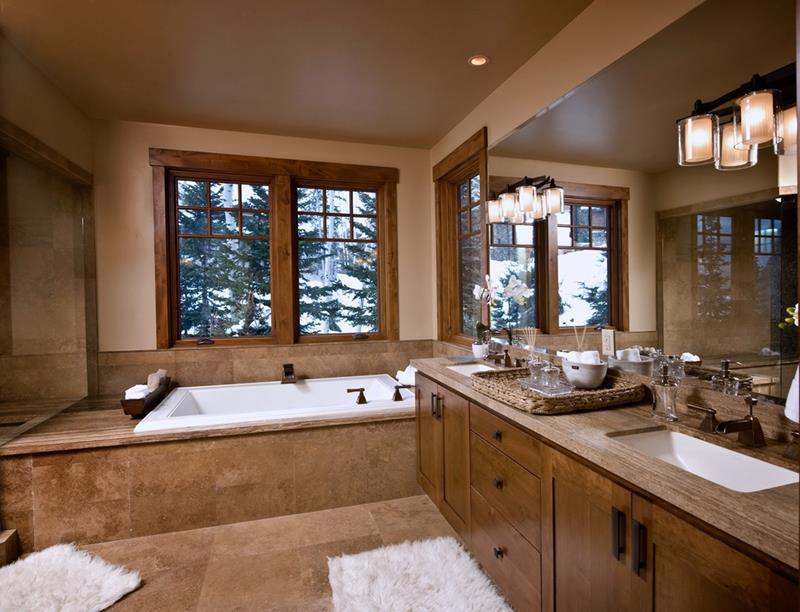 24 Brown Master Bathroom Designs-23