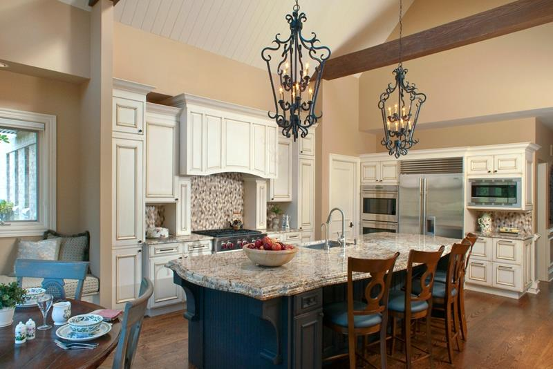 24 Kitchens with Jaw Dropping Cathedral Ceilings-16