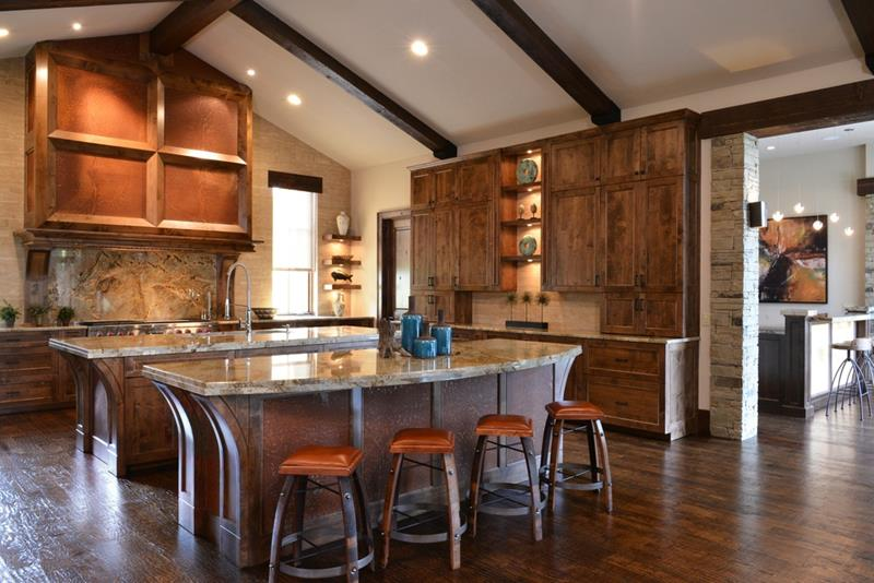 24 Kitchens with Jaw Dropping Cathedral Ceilings-19