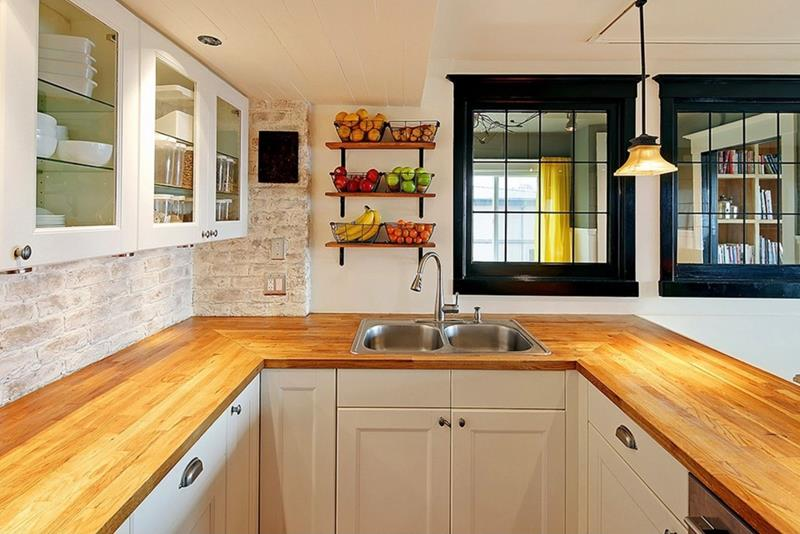 25 Kitchens with Stunning Wood Counters-18