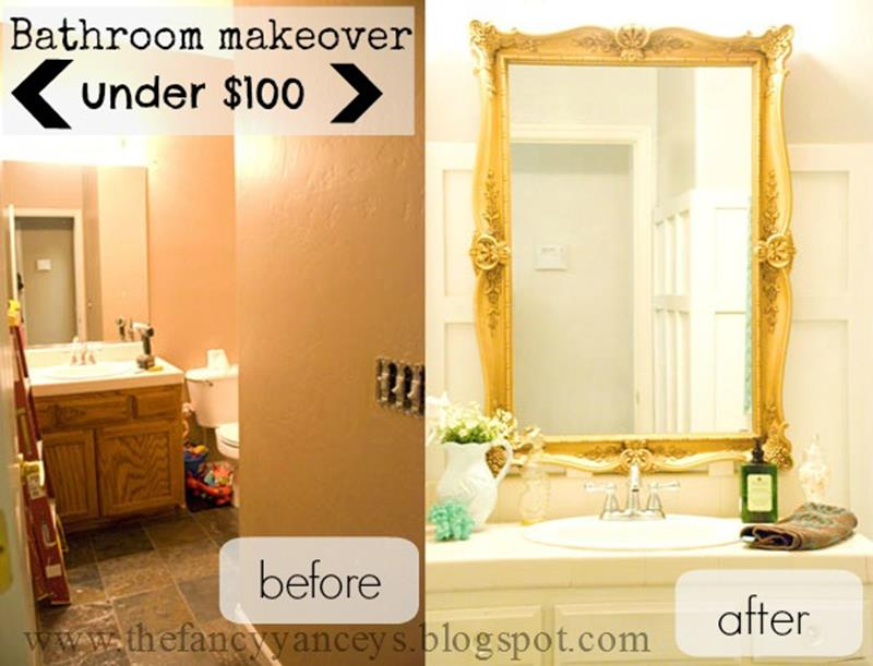 An Amazing Bathroom Remodel with a 100 Budget-title