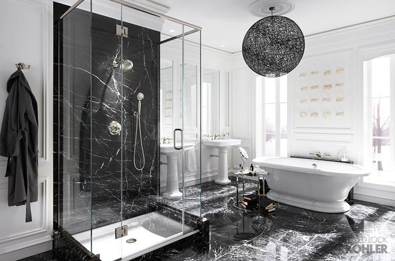 24 Beautiful Ideas for Master Bathroom Windows-23
