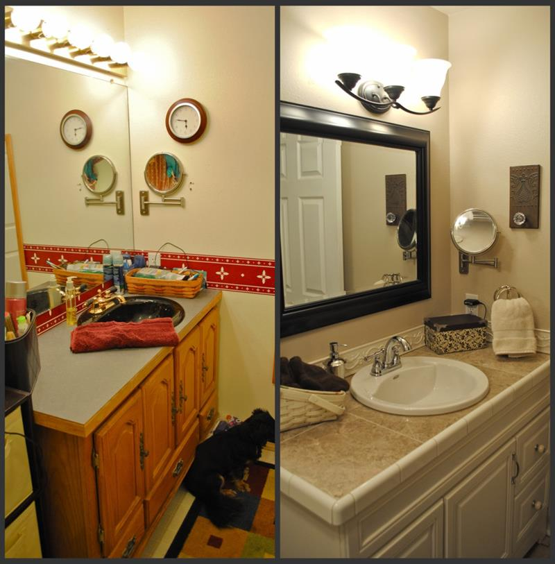 24 Pictures of Before and After Bathrooms with Cost-title
