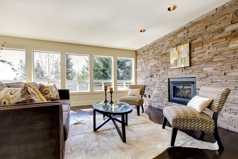 image named 25 Amazing Stone Accent Walls title