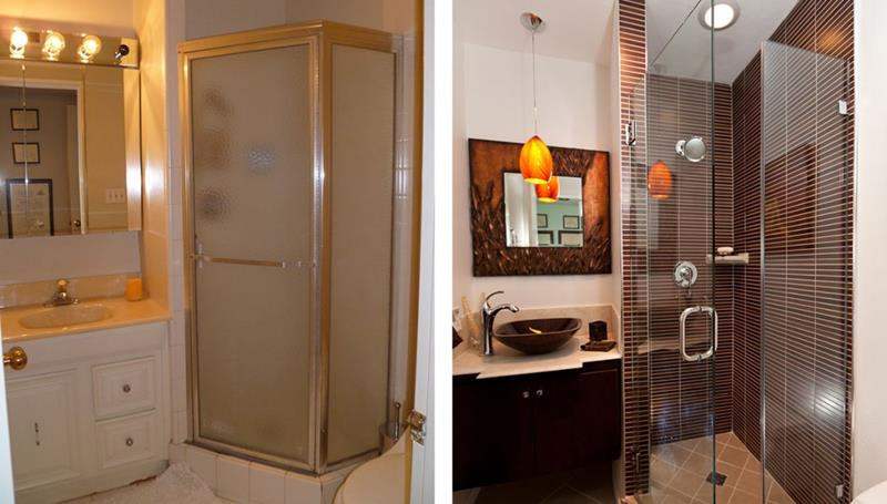 10 Amazing Before and Afters of Bathroom Remodels-title