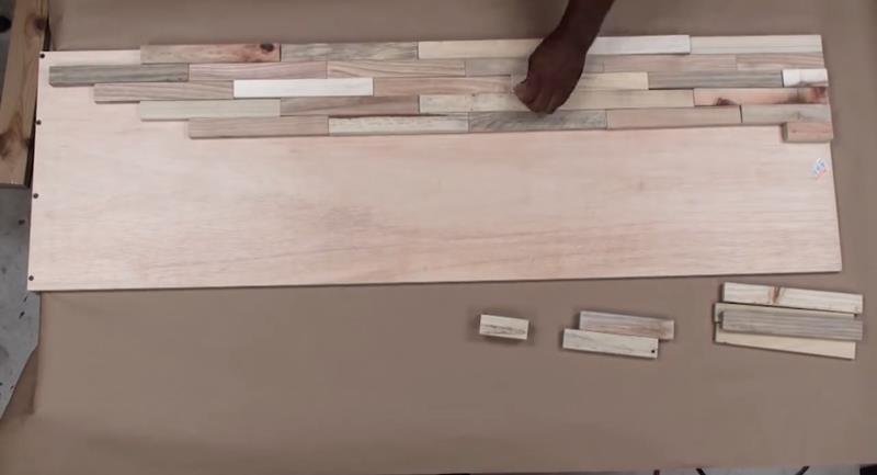 How to Make DIY Wood Pallet Backsplash-10