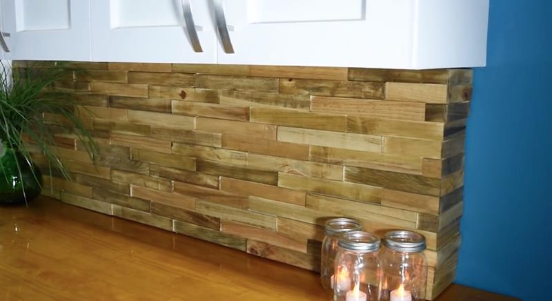 How to Make DIY Wood Pallet Backsplash-14