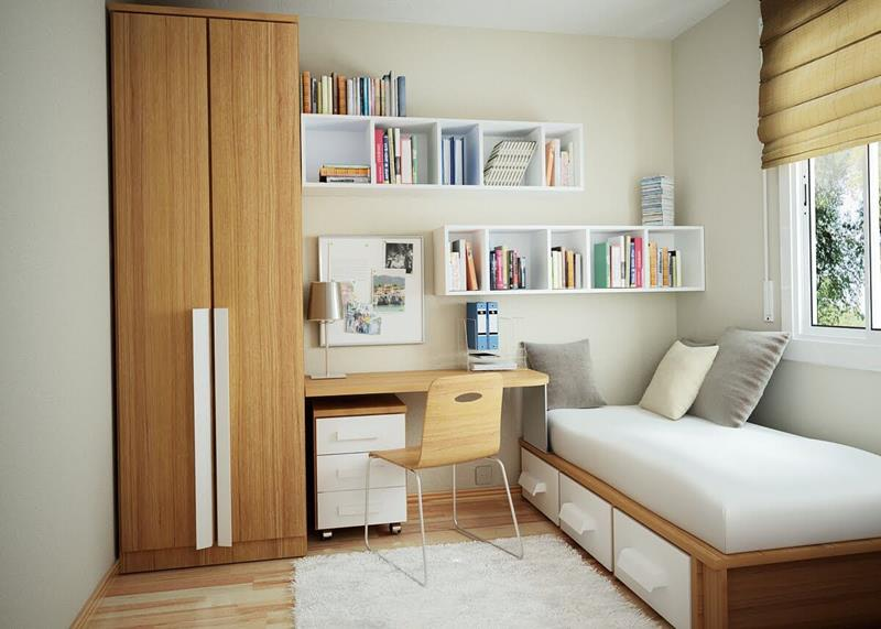image named 15 Incredible Ideas for Small Bedroom Designs title