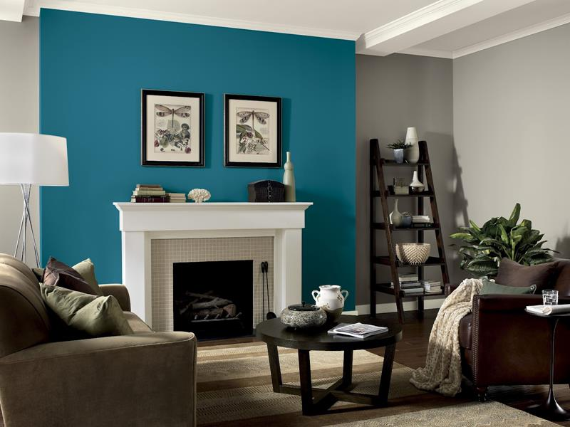 image named 15 Living Rooms with Eye Popping Accent Walls title