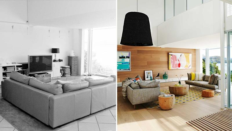 image named 14 Stunning Living Room Before and After Pictures title