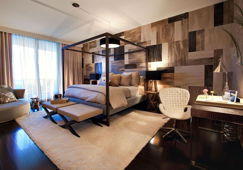 image named 15 Eye Catching Master Bedroom Accent Walls 11