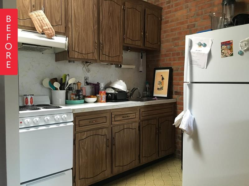 image named 10 Pictures of a 300 Rental Kitchen Transformation 1