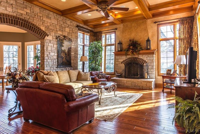 image named 20 Gorgeous Living Rooms with Fireplaces 1