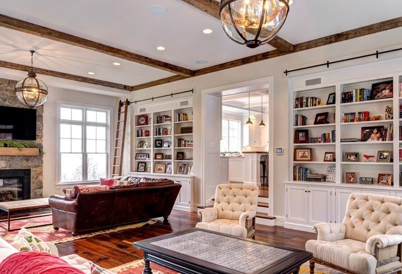 image named 20 Gorgeous Living Rooms with Fireplaces 12