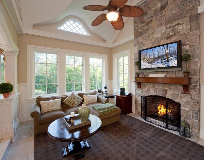 image named 20 Gorgeous Living Rooms with Fireplaces 13