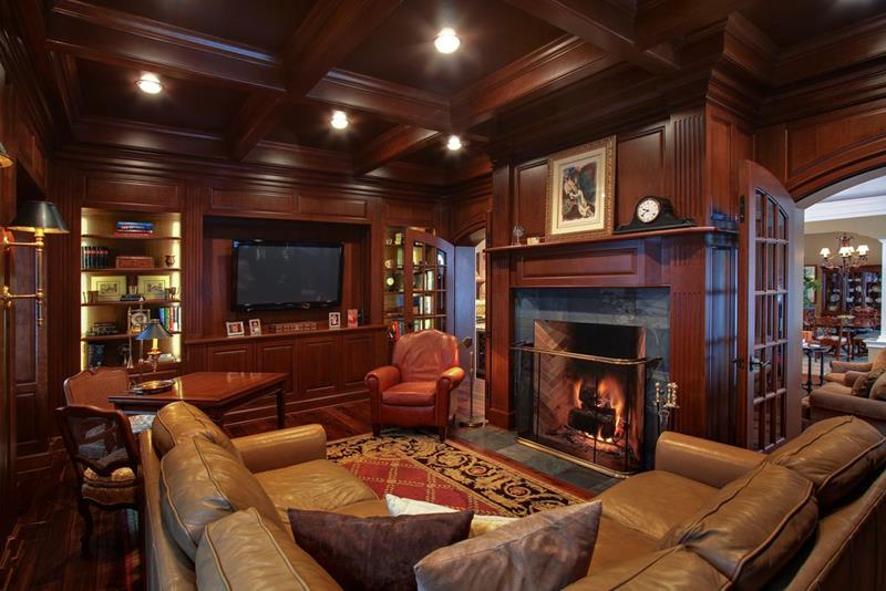 image named 20 Gorgeous Living Rooms with Fireplaces 15