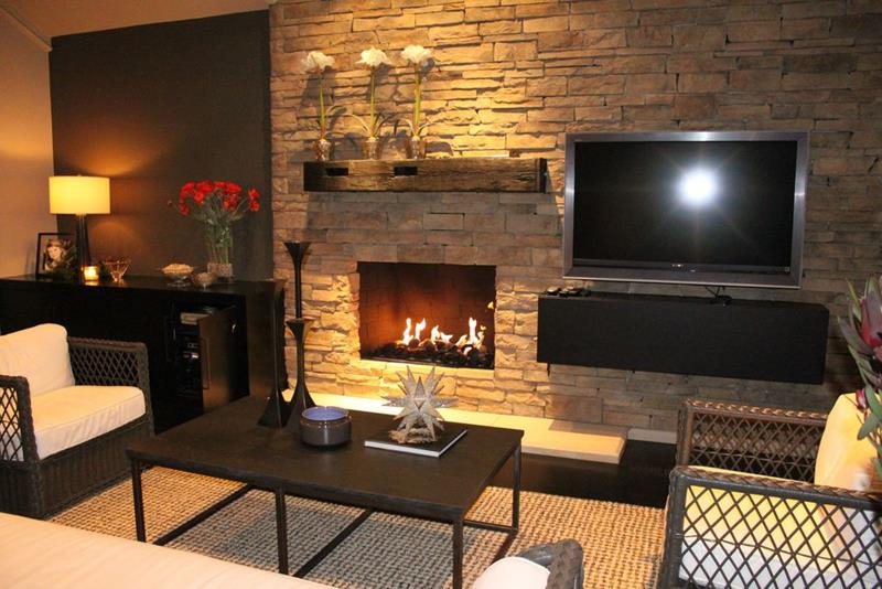 image named 20 Gorgeous Living Rooms with Fireplaces 19