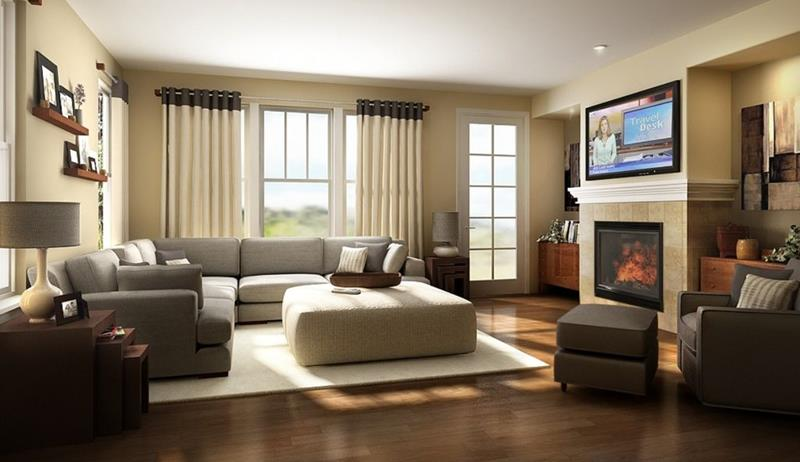 image named 20 Gorgeous Living Rooms with Fireplaces 3