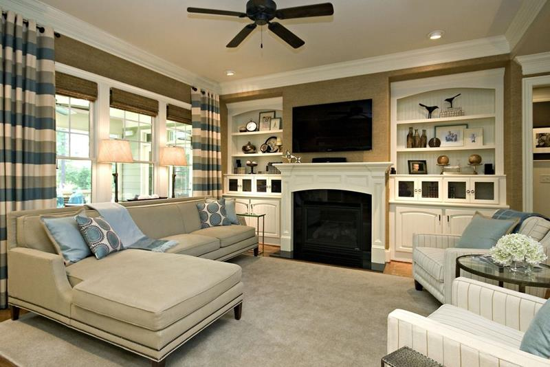 image named 20 Gorgeous Living Rooms with Fireplaces title