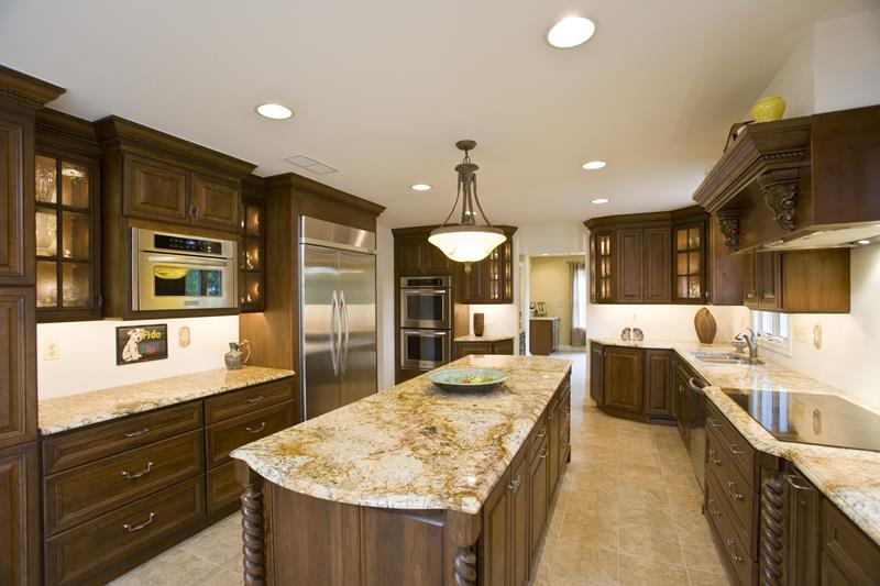 image named 20 Stunning Kitchen Countertop Ideas title