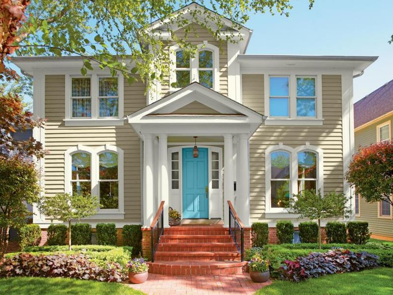 image named 20 Home Exterior Ideas with Loads of Curb Appeal title