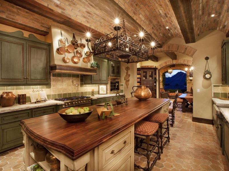 image named 20 Stunning Rustic Kitchen Designs and Ideas title