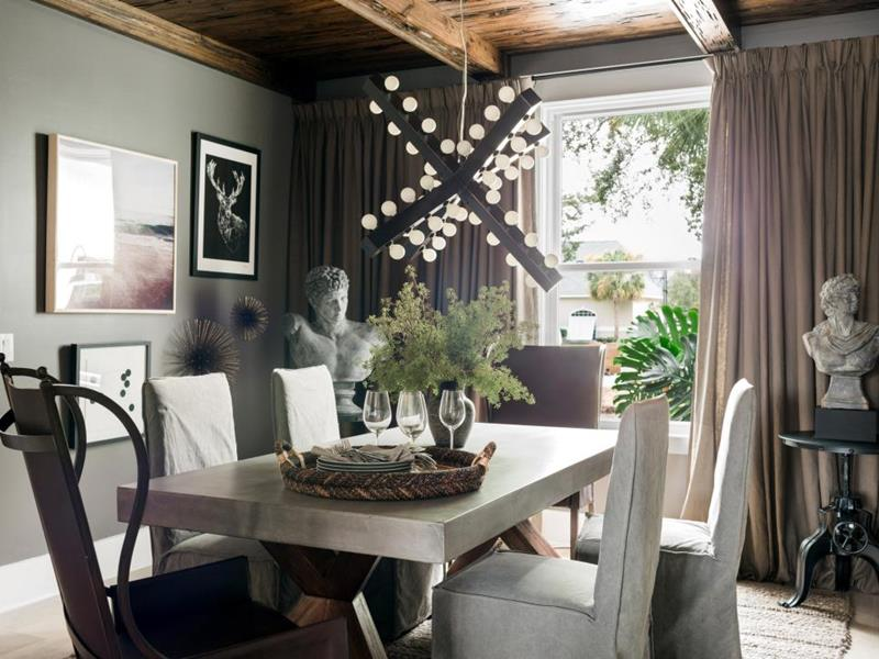image named 16 Dining Room Trends for 2017 and 4 on the Way Out title