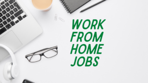 desk and text that says work from home jobs